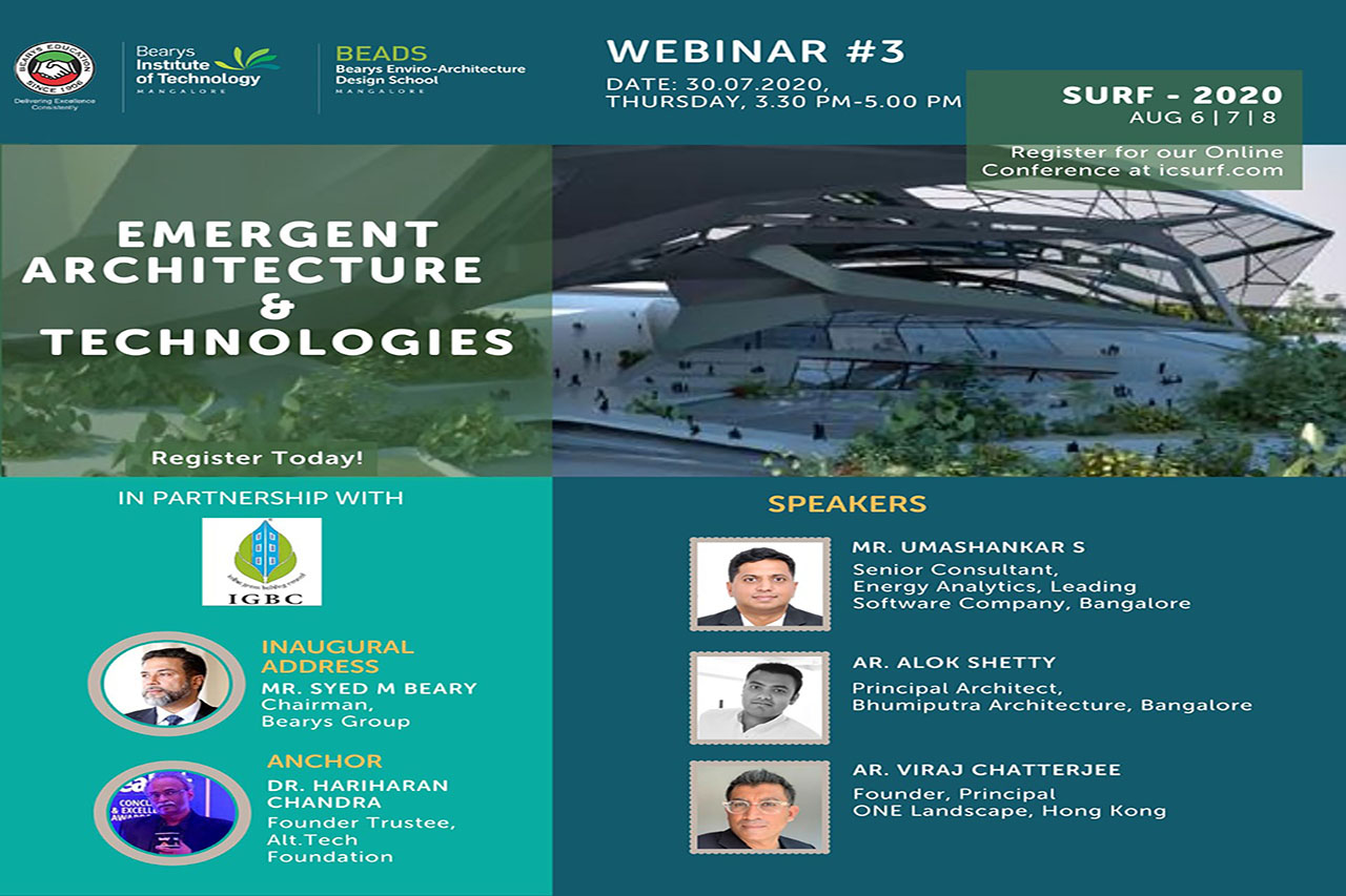 SURF 2020:EMERGENT ARCHITECTURE & TECHNOLOGIES